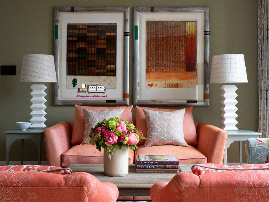 Living Room Ideas – The colors used on the principle of 60-30-10