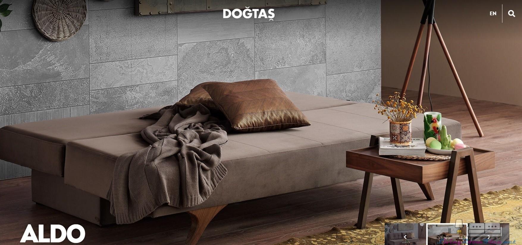 Aldo Triple Bed Sand Sofa