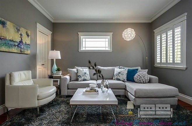 Gray Color Ideas for Living Room
