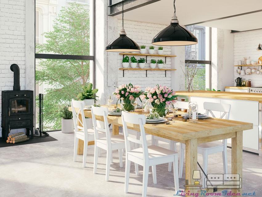 Rustic Open Kitchen Decoration